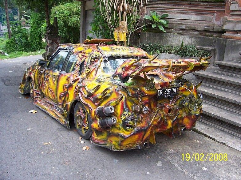 unusual painted vehicles STRANGE CUSTOM CAR WEIRD