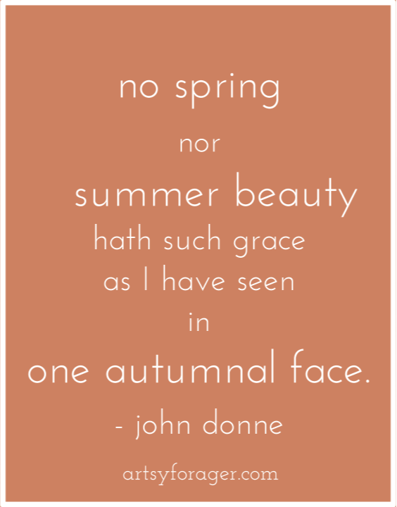 John Donne quote for Autumn