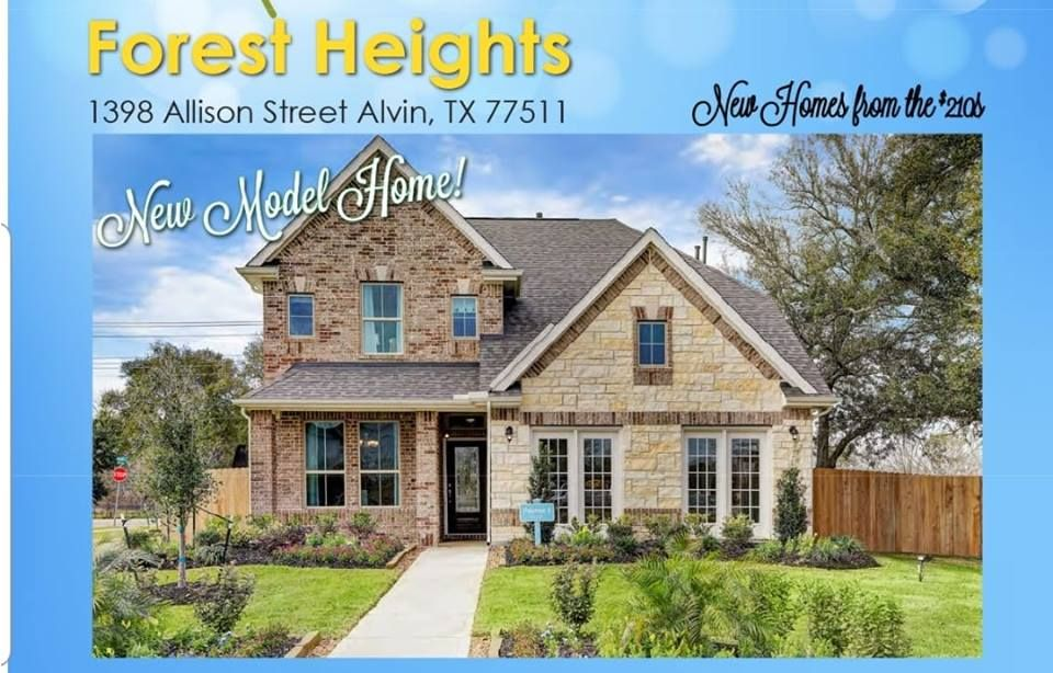 Reasonably priced homes by K  Hov in up * coming Alvin, TX