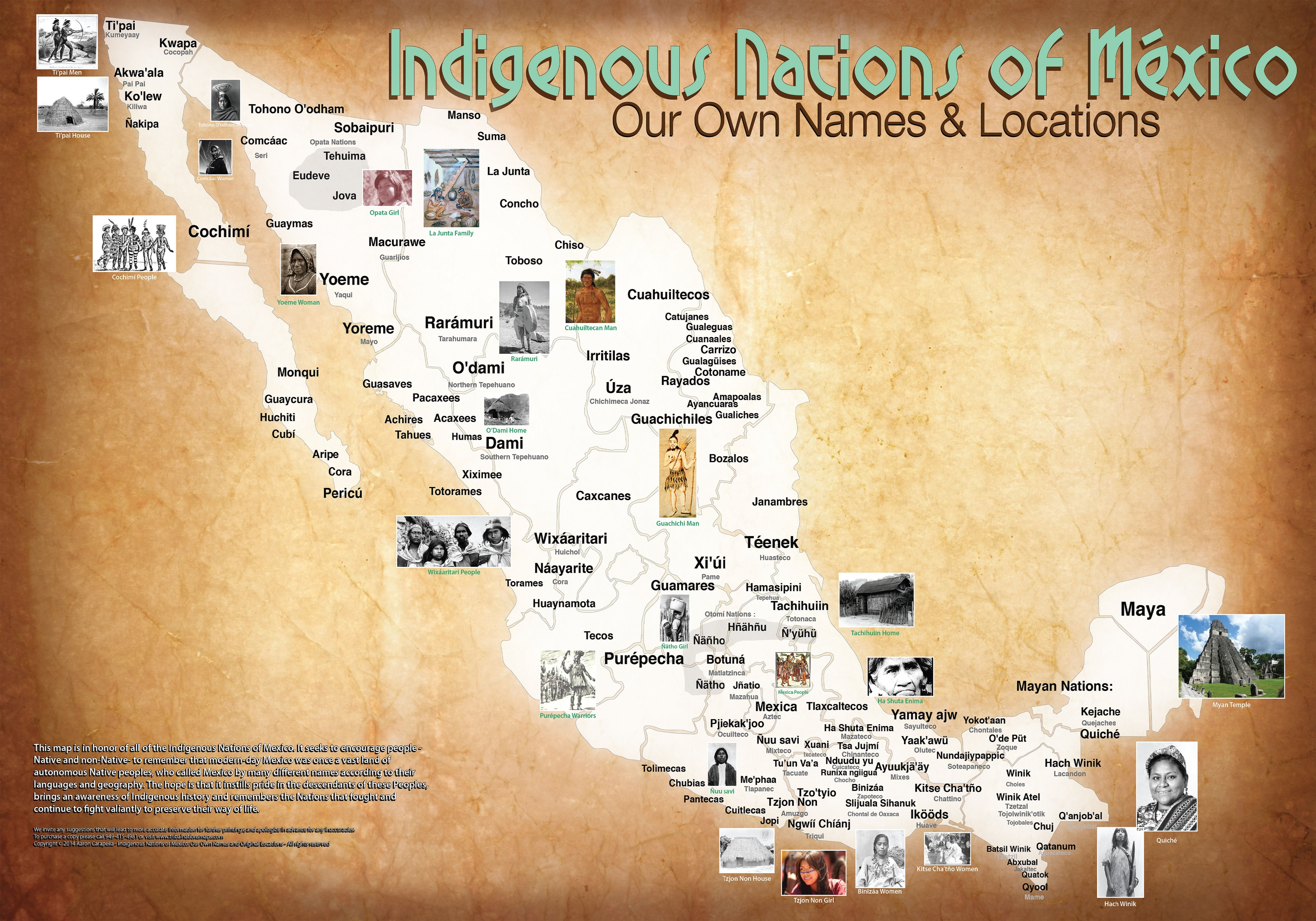 Indigenous Tribes Of Mexico Map.Pin By Ali Hajipour On Infographics Native American Tribes Native