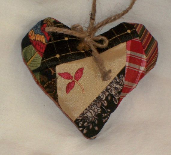 Organic French Lavender Heart made from Vintage Cutter Crazy Quilt, Scented Lavender Sachet, Lavender Home Decor #lavender sachet #lavender home decor