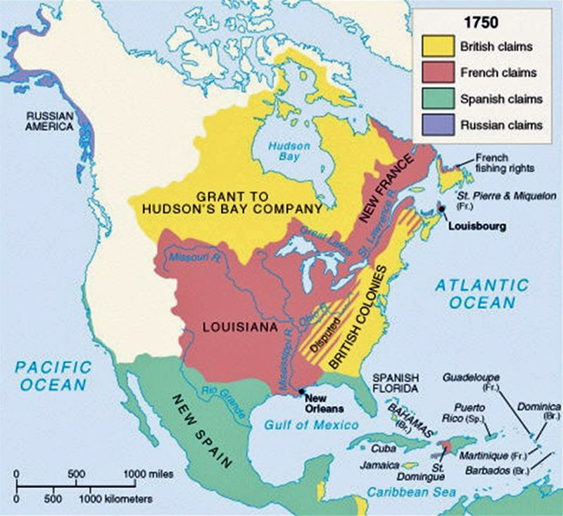 Map Of America In 1700.1700 Territories And After Such A Cool History Map