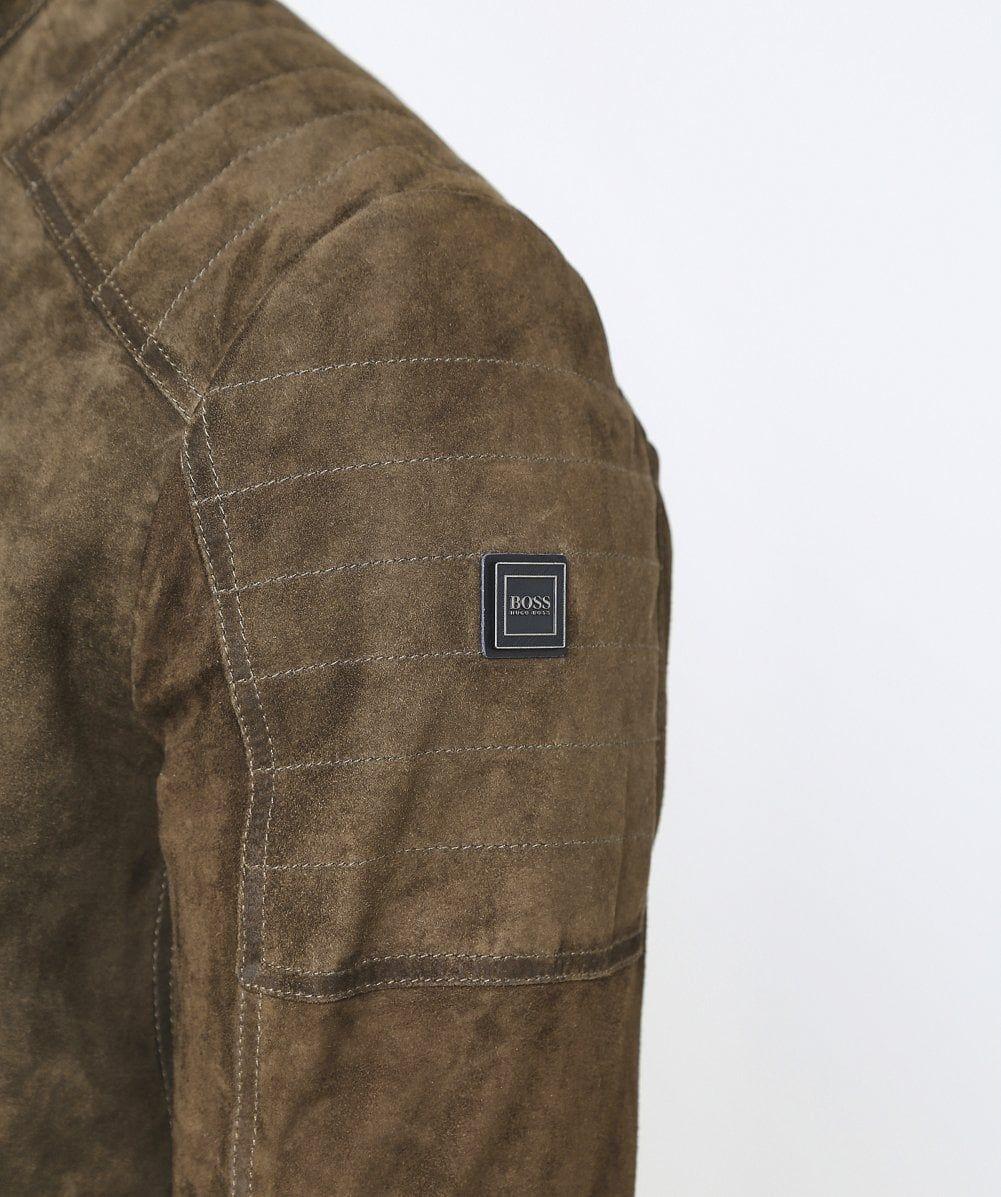 BOSS Suede Jaydee Biker Jacket Suede jacket, Jackets
