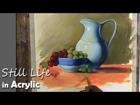 933 Painting A Realistic Still Life In Acrylic Step By Step