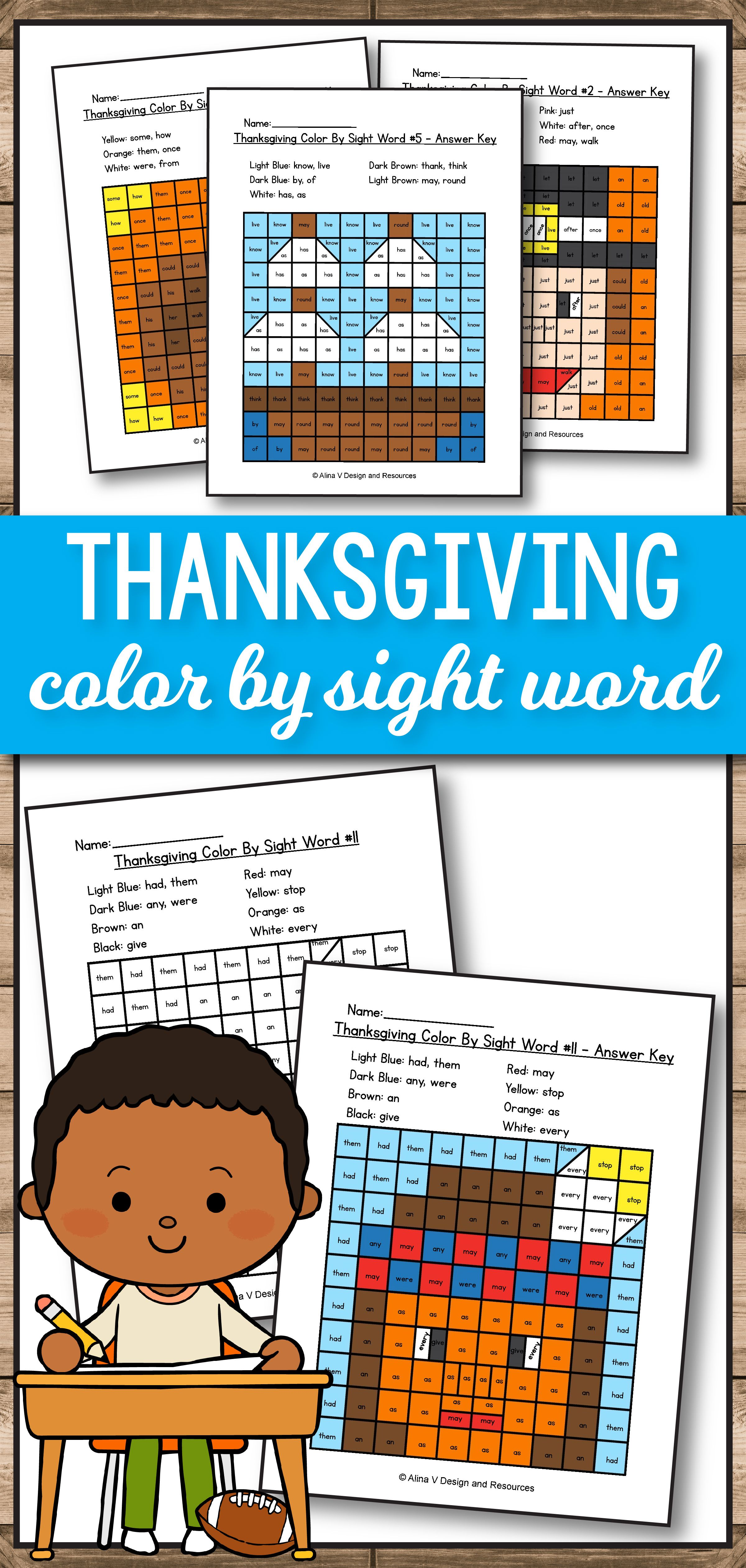 Thanksgiving Activities For 1st Grade