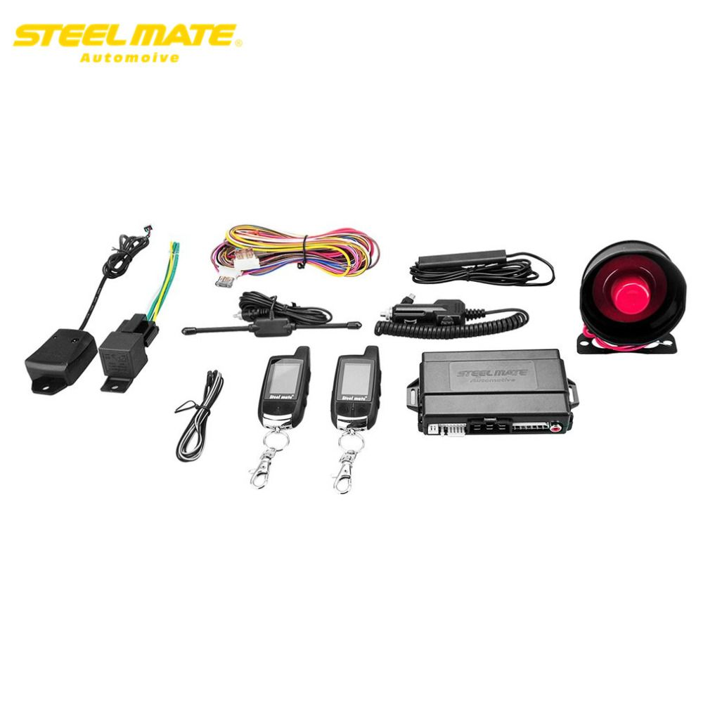 hight resolution of steelmate 888e pke car alarm system remote control passive smart key lock led indicator valet mode