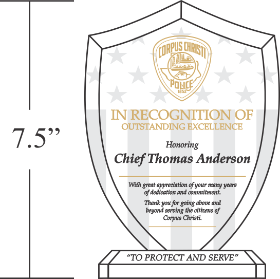 Years Of Service Award Template: Unique Police Recognition Plaques And Sample Wordings