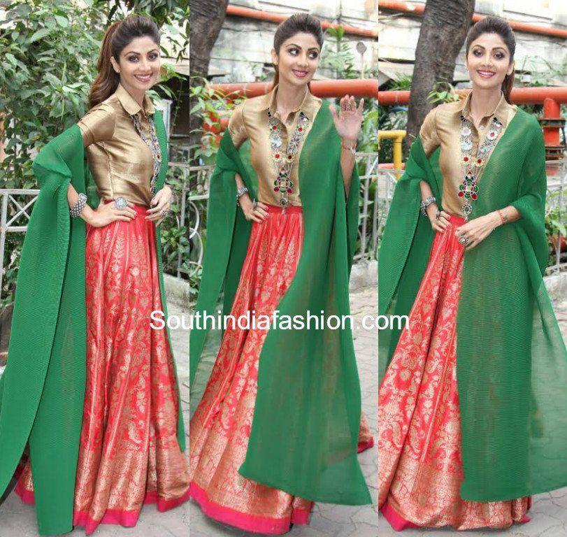 Shilpa Shetty In Payal Khandwala South India Fashion Fashion Indian Designer Outfits Skirt Design