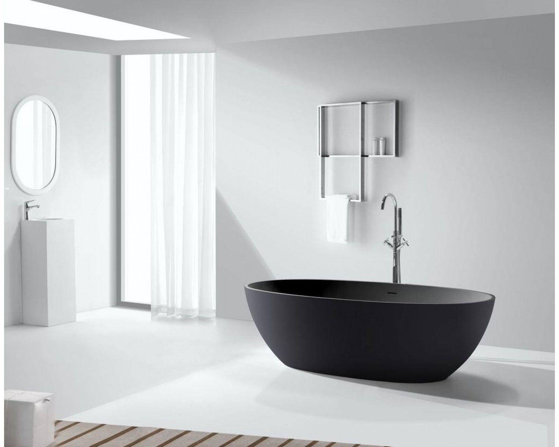 Mineralguss Badewanne Ductilo Schwarz Freistehend In 2020 Badewanne Kleines Badezimmer Umgestalten Wanne