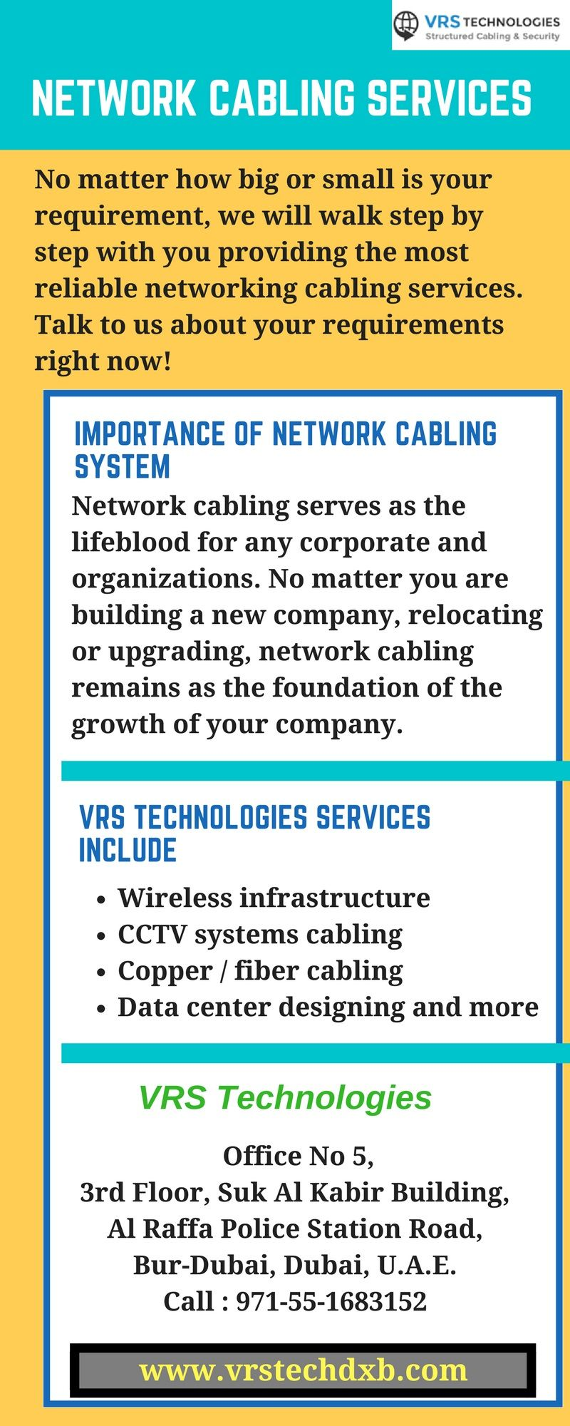Network Cabling Installation Services In Dubai By Vrs Technologies Basic Structured Wiring Adjacent To Security Panel Http
