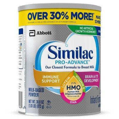 Similac Pro Advance Non Gmo Infant Formula With Iron Powder