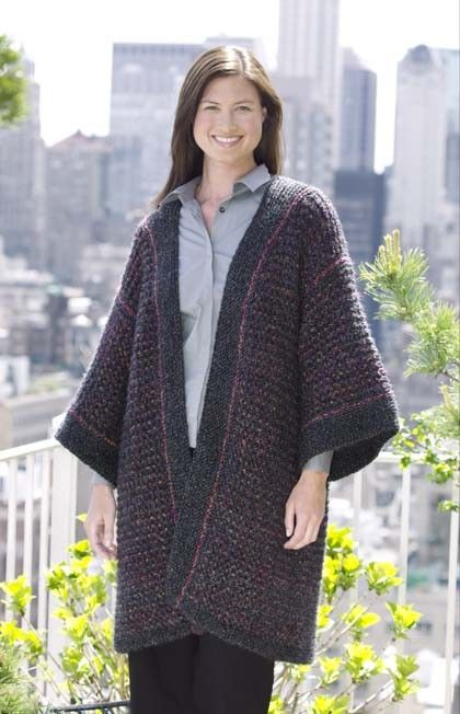 Knit Kimono Cardigan Knitting Knowledge Pinterest Crochet