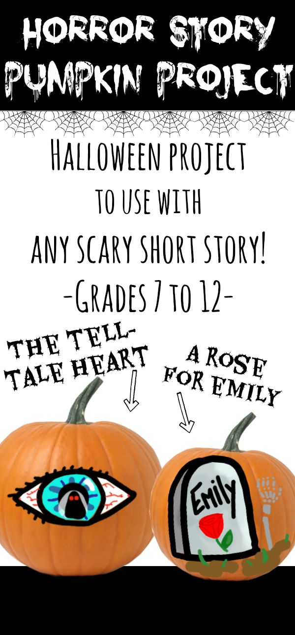 Horror Story Pumpkin Project (For Secondary Students) | *ELA