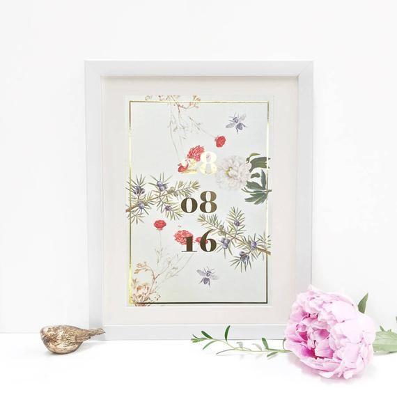 Personalised Special Date Metallic Print