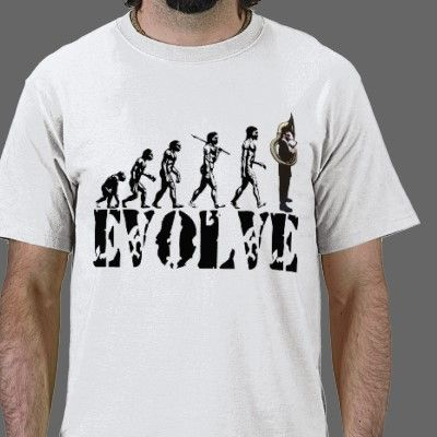 Funny Marching Band Sousaphone   Tuba Evolution Music T-shirt - humor gifts. 8e66c4873e0
