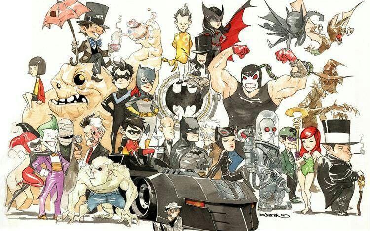 Batman and (not really) friends. Batman wallpaper