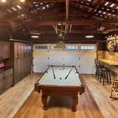 Garage Den With Pool Table