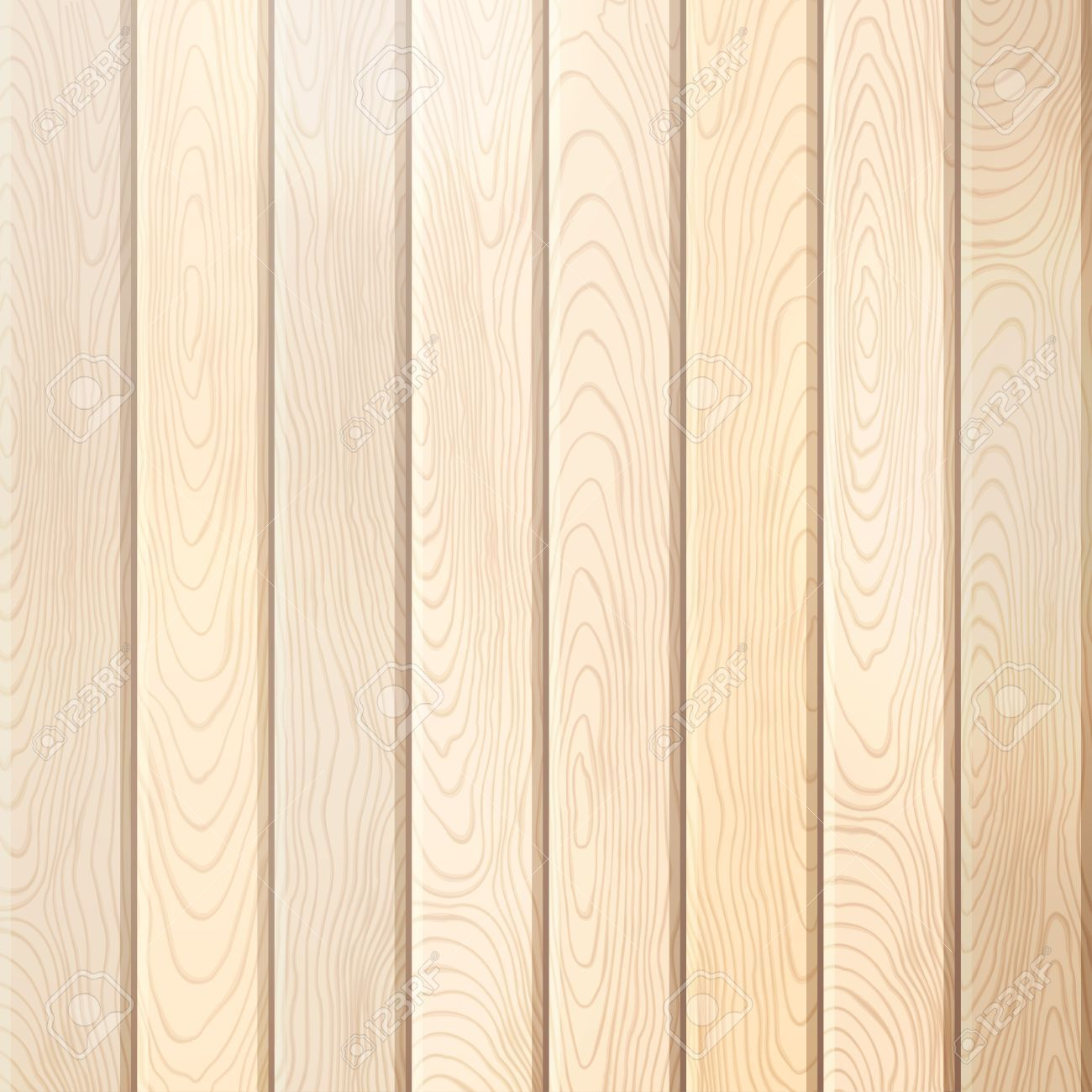 Pine Wood Plank Background. Vector Bright Square