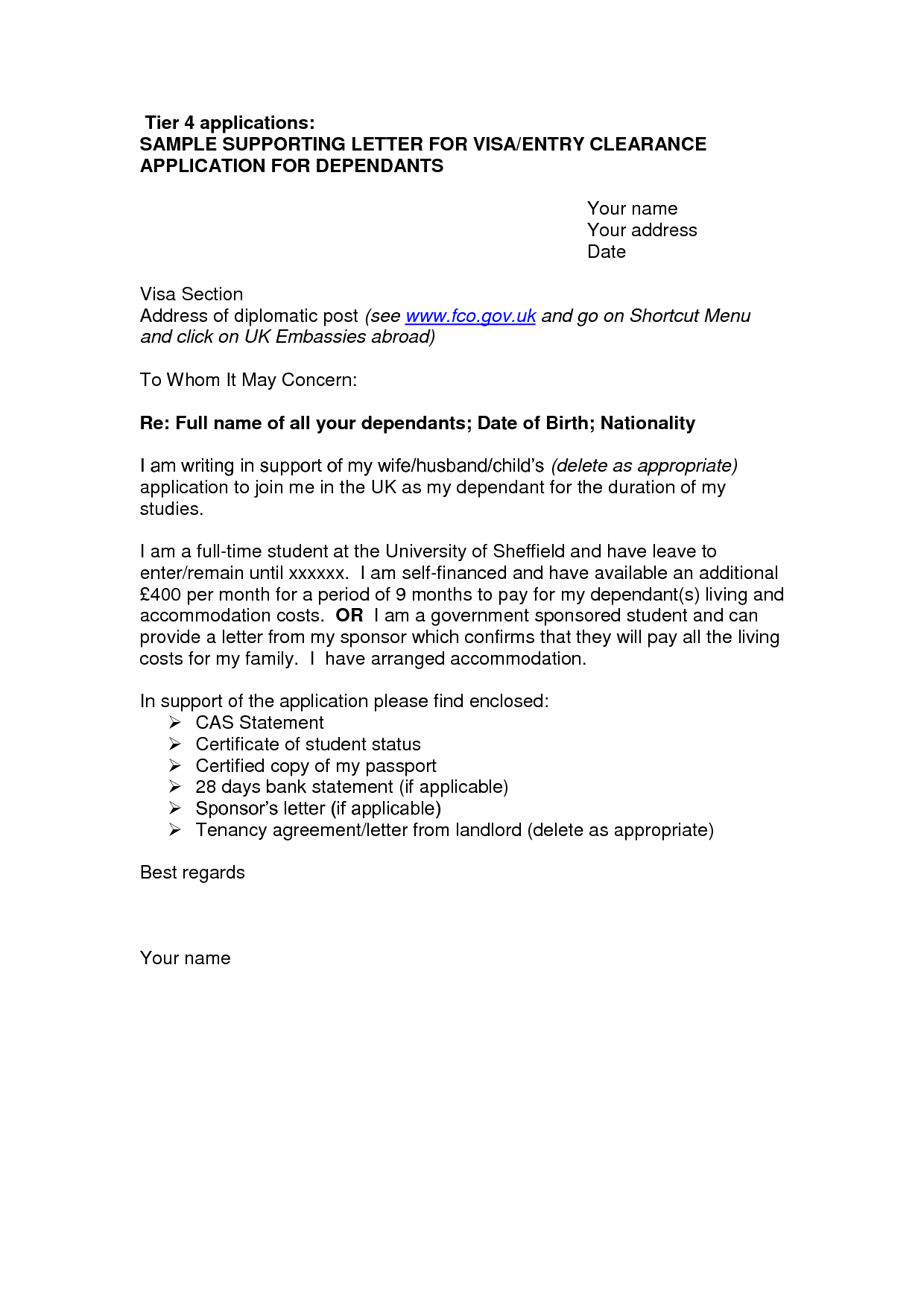 Resume Cover Letter Template Cover Letter Sample For Uk Visa Application Free Online Resumevisa