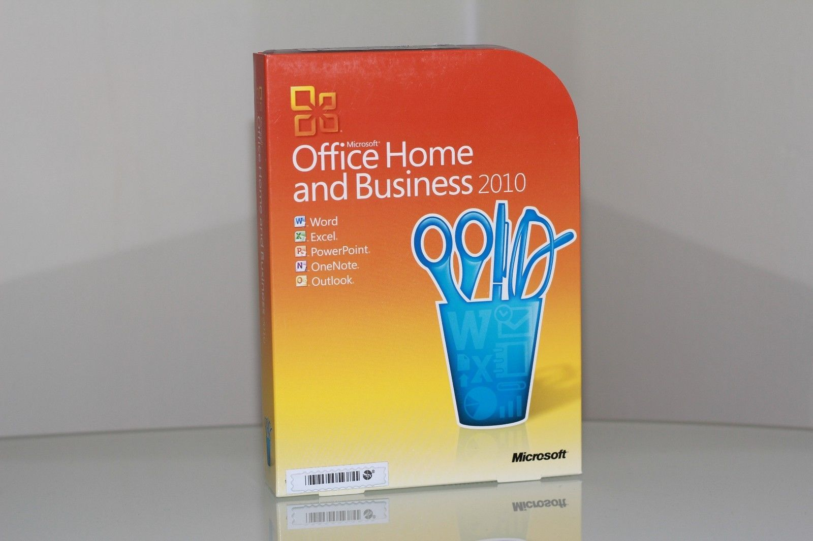 MS Microsoft Office 2010 Home and Business Licensed Full Retail Box