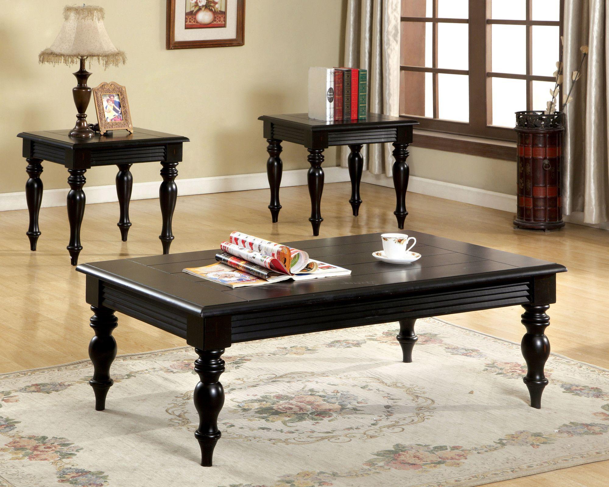 Hokku Designs Degrei 3 Piece Coffee Table Set Coffee Table 3 Piece Coffee Table Set Coffee Table And Side Table Set [ 1600 x 2000 Pixel ]