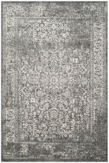 Best Safavieh Evoke Distressed Border 4 X 6 Area Rug In Gray 640 x 480