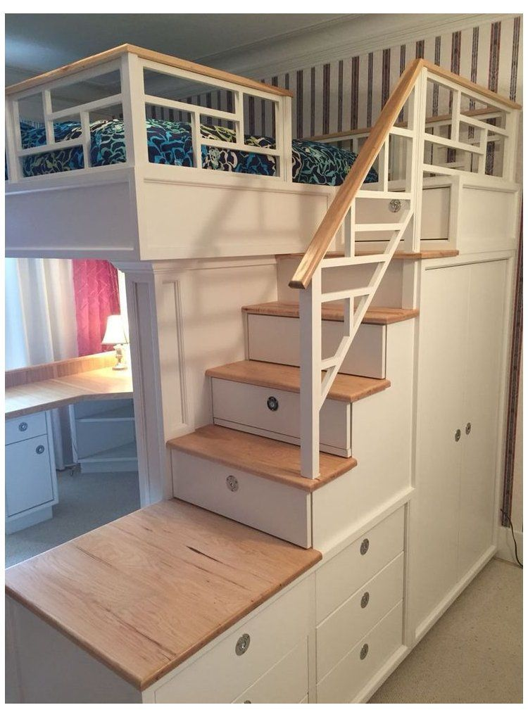 Pin On Loft Bed Drawer Stairs For Haley S Room