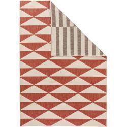 benuta Wendeteppich Terrazzo Beige/Rot 200×285 cm – Moderner Teppich für Wohnzimmer benuta