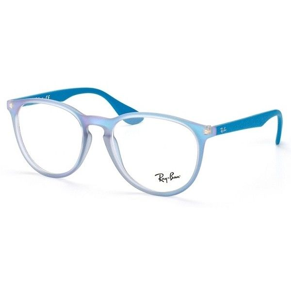 1473904ee0 Ray-Ban RX 7046 5484 Azure Iridescent Eyeglasses featuring polyvore ...