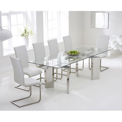 Found It At Wayfaircouk  Aurora Extendable Dining Table And 6 Pleasing White Dining Room Table And 6 Chairs Review
