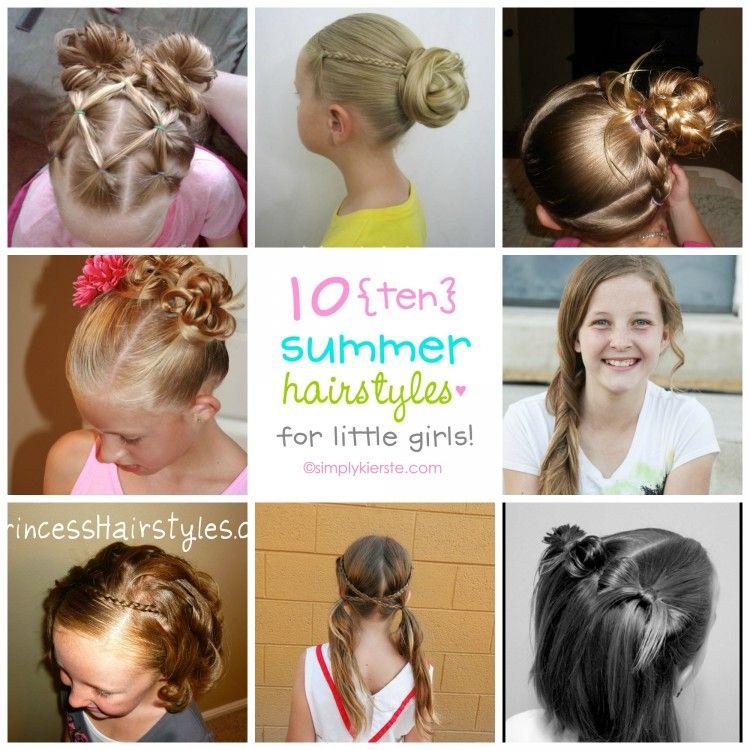 10 Fun Summer Hairstyles For Little Girls Hair Summer Hairstyles