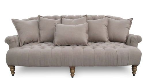 MARIA-Sofa-Chesterfield-taupe-3-Sitzer-Stoff-Sofa-taupe ...