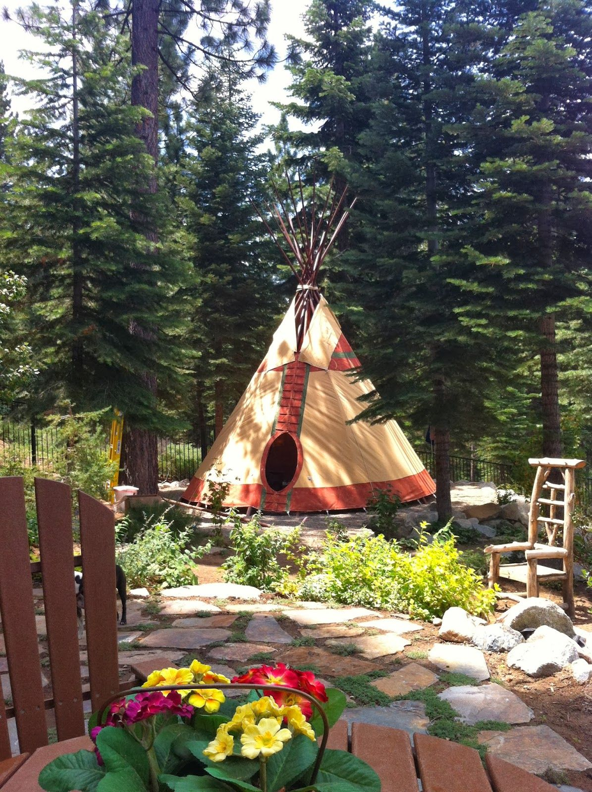 backyard tipi my woodland baby shower pinterest tipi