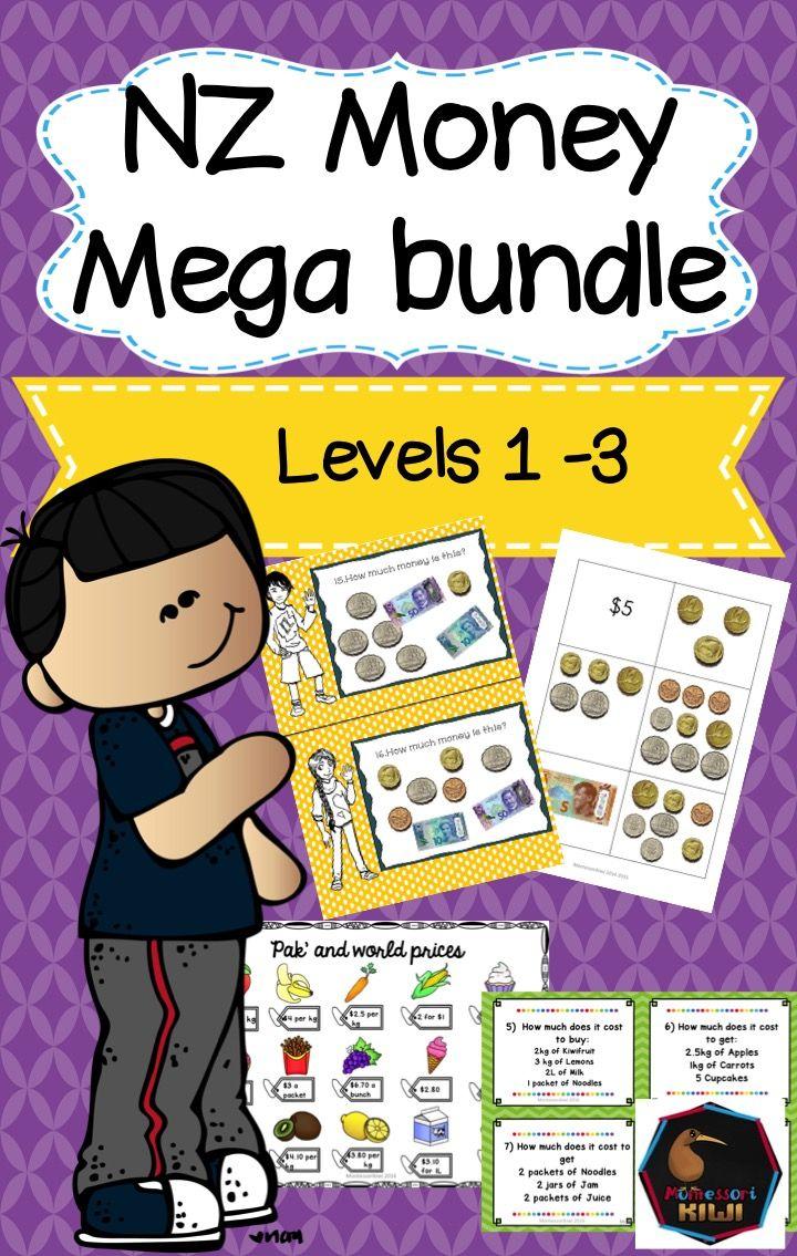 New Zealand Money Mega Bundle Levels 1 2 3 Money Math