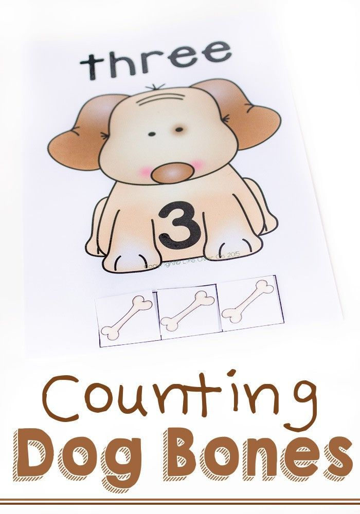 Dog Counting Cards For Numbers 1 5 Preschool Activities Math