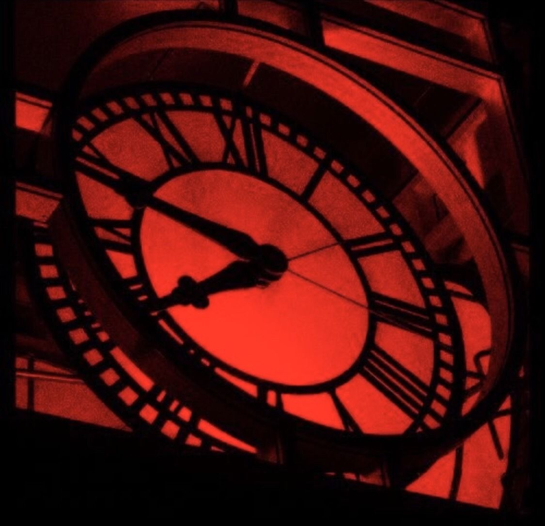 A L O N.🥀 Red aesthetic, Red clock, Black and red