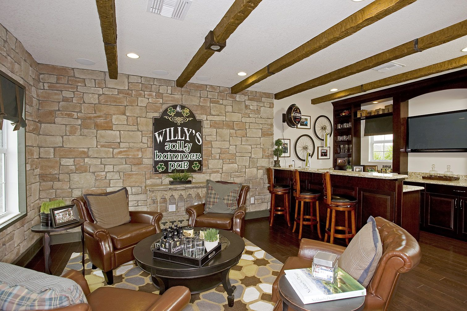 Turn the additional den into a Man Cave, or your very own bar. HBWB | MiraBay | Florida | Newland