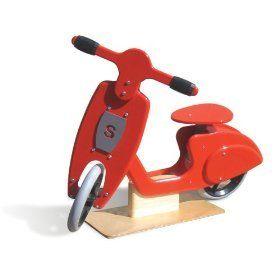 Children S Wooden Balance Bike A Vespa Style Scooter Skipper Toys