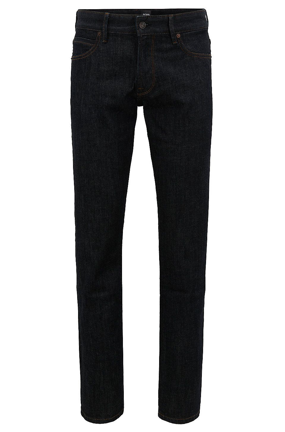 063f24808 HUGO BOSS Regular fit jeans in soft stone-washed denim - Dark Blue Jeans  from BOSS for Men in the official HUGO BOSS Online Store free shipping
