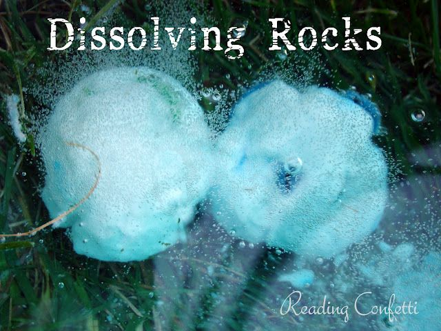 Dissolving Rocks Reading Confetti Fun Summer Activities Summer Activities For Kids Science For Kids