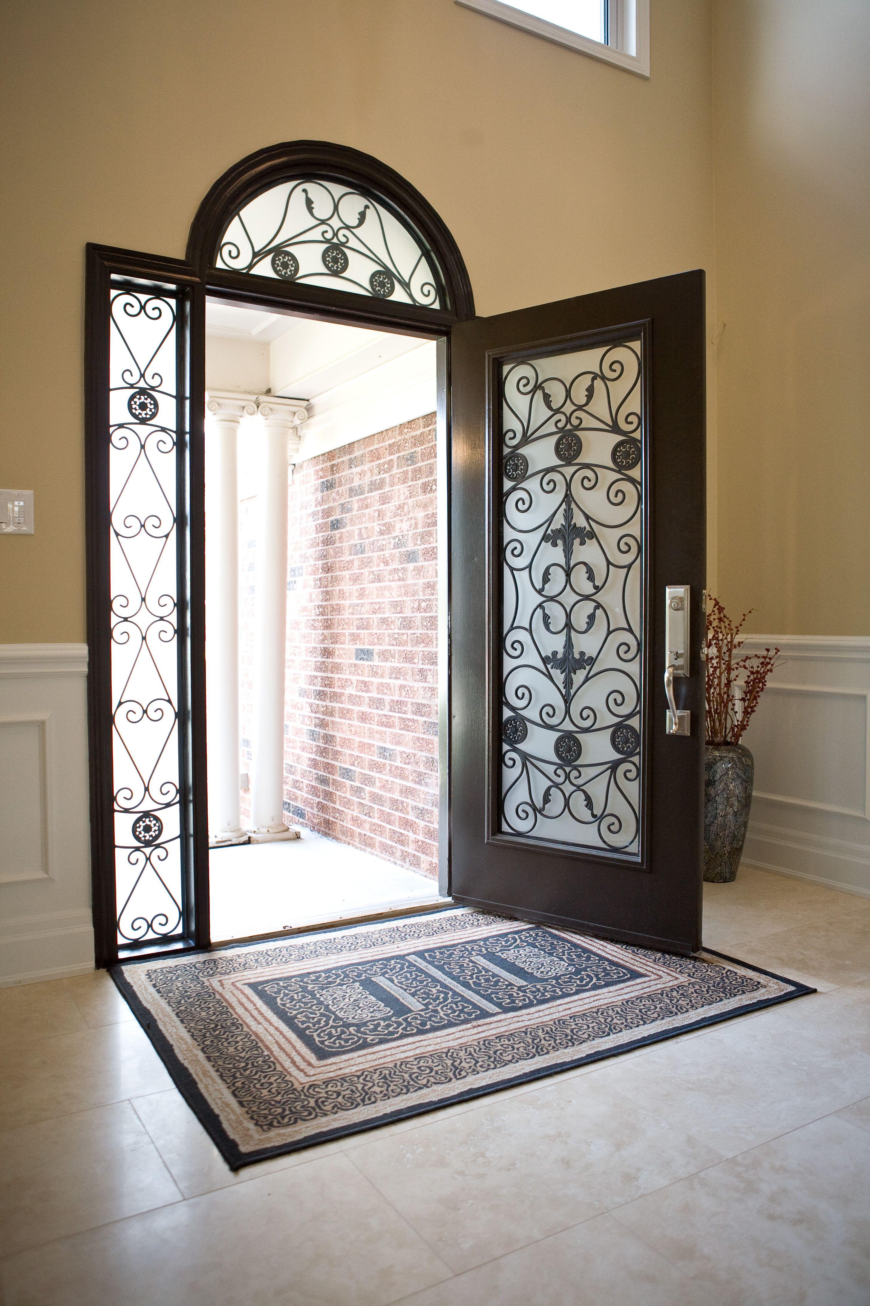 Custom Wrought Iron insert on Fiberglass Door System -Create Your Style Your Way! & Custom Wrought Iron insert on Fiberglass Door System -Create Your ... pezcame.com