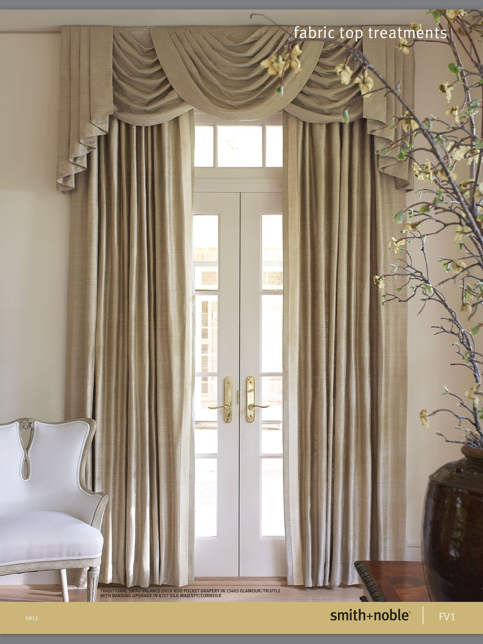 Formal Drapery   Home, Curtains, Valance curtains