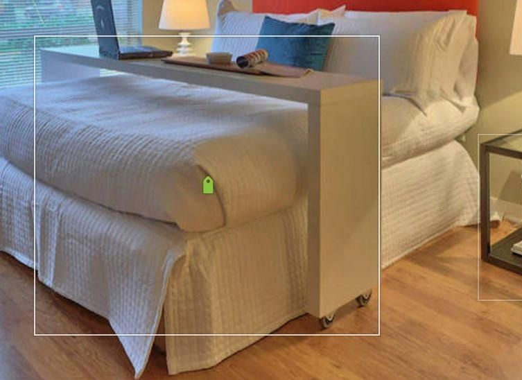 Over Queen Bed Rolling Table Guest Counter Example Only These Are Custom Diy Copies Of A Smaller Ikea Table Has Casters Can Roll Over Bed Table Bed Home