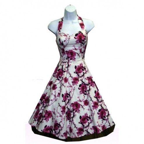 HR Pink Cherry Blossom 50's Vintage Kleid mit Tellerrock jetzt bis Größe 6XL