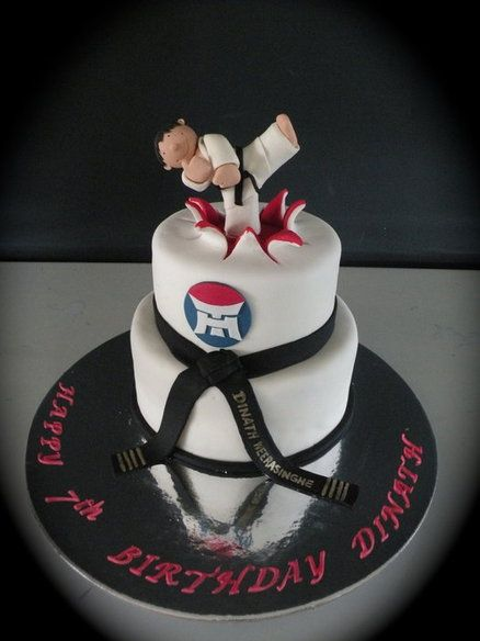 Wondrous Taekwondo Cake Cute Idea For Grooms Cake Payton Karate Cake Birthday Cards Printable Trancafe Filternl