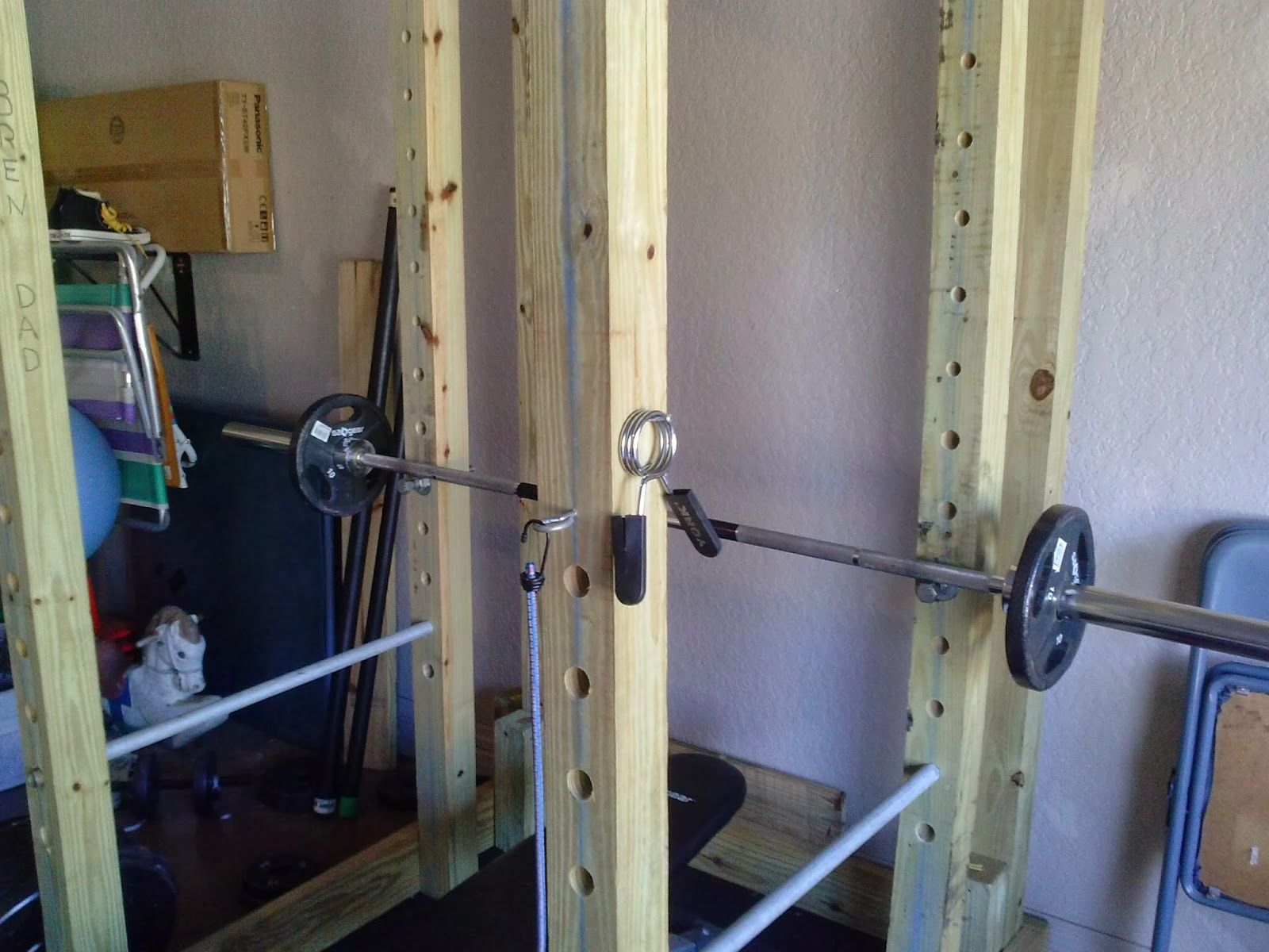 homemade wooden power rack power cage diy pinterest