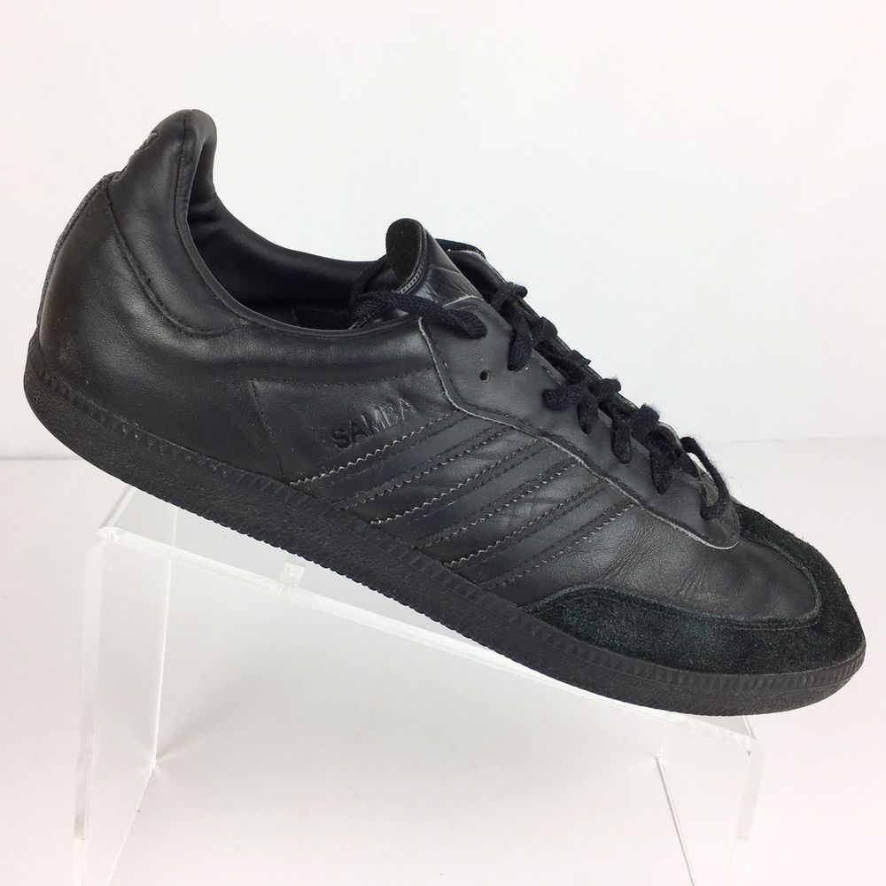 Adidas Samba hombre  tamaño 11 fútbol zapatos deportivos casuales de cuero negro