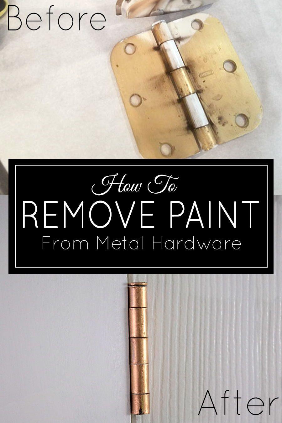 How To Remove Paint From Door Hinges Metal