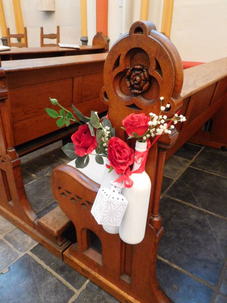 Wedding decorations red  Wedding aisle decoration  Red rose wedding at Cellebroederskapel