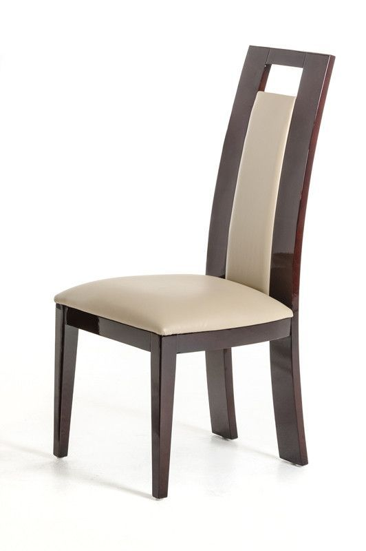 Modrest Douglas Modern Ebony And Taupe Dining Chairthe Modrest Prepossessing Taupe Dining Room Chairs 2018
